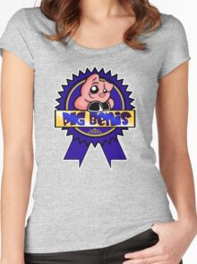 PBR: Pig bENIS Ribbon Women's Fitted Scoop T-Shirt