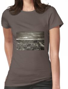 Sun Rays Over Paris - HDR Black & White Womens Fitted T-Shirt