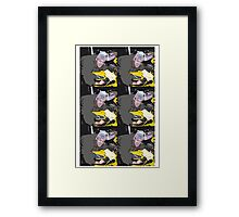 Motorcycle cartoon Framed Print