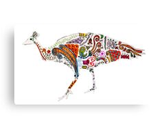 Colourful Peacock  Canvas Print