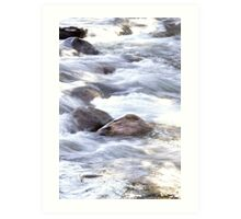 Water Rushing By At Gore Creek  Art Print