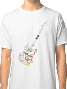 Guitar Typology No Background Classic T-Shirt