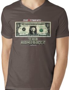 Pissed OFF Panda Hates the Almighty Dollar Mens V-Neck T-Shirt