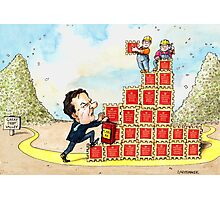 George Osborne's Treasury Bonds Option Photographic Print