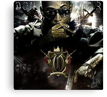 Graphic Design for Don Omar mixtape  Canvas Print