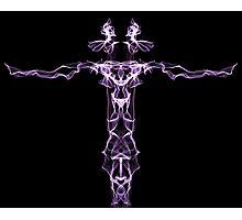 purple line on Black Photographic Print