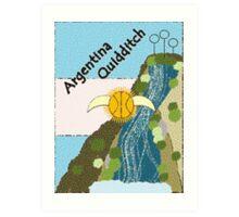 Argentina Quidditch Art Print