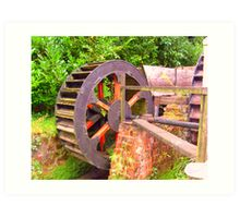 old mill wheel Art Print
