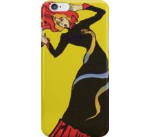 Jane Avril After Henri de Toulouse-Lautrec iPhone Case/Skin