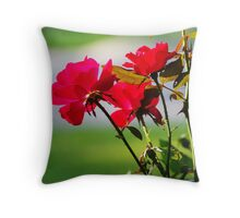 Red Knock Outs Throw Pillow