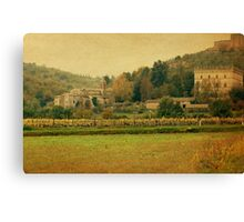 Country Church-Tuscany Canvas Print