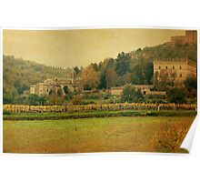 Country Church-Tuscany Poster