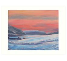 Colours Of Winter, Shetland Art Print