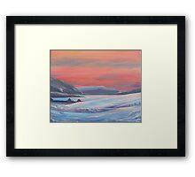 Colours Of Winter, Shetland Framed Print