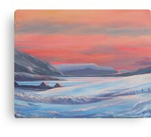 Colours Of Winter, Shetland Canvas Print