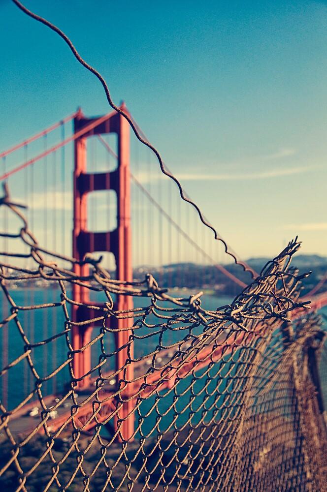 Golden Gate Bridge - through the fence by Irene2005