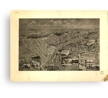 Panoramic Maps Winchester Massachusetts 1898 Canvas Print