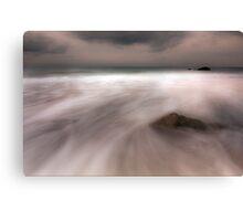 Misty Water-Rocky Bay Ireland Canvas Print