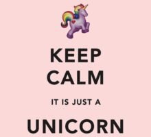 Keep Calm is Just a Unicorn  One Piece - Short Sleeve