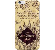 Map Harry potter castle iPhone Case/Skin