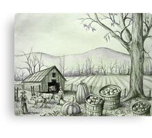 Fall Harvest Time Down on the Farm Canvas Print