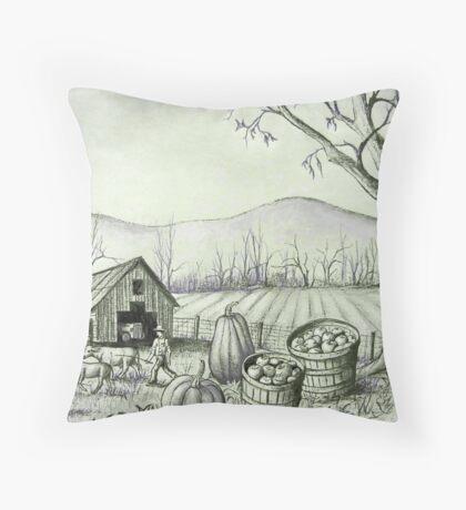 Fall Harvest Time Down on the Farm Throw Pillow