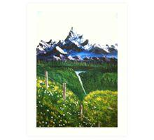 RESTFUL MOUNTAINS Art Print