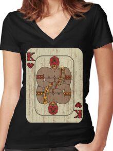 El Rey De Corazones Women's Fitted V-Neck T-Shirt