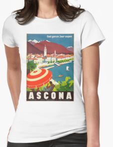 Vintage poster - Ascona Womens Fitted T-Shirt
