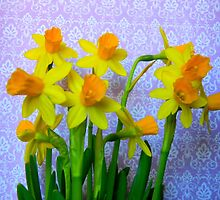 Daffodils and Purple by CrystalFanning