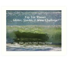 Top Ten Banner - Glitter, Sparkle & Shine Art Print