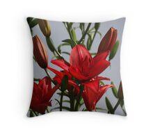 Asian Lilies Throw Pillow