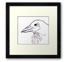 Simplistic Raven  Framed Print