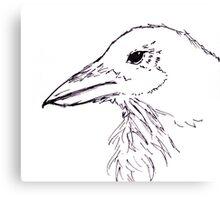 Simplistic Raven  Canvas Print
