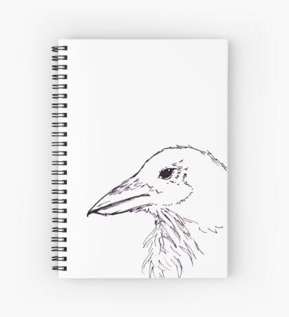 Simplistic Raven  Spiral Notebook