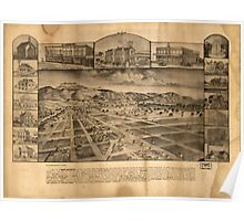 Panoramic Maps The town of San Jacinto is in great San Jacinto Valley San Diego Co California Poster