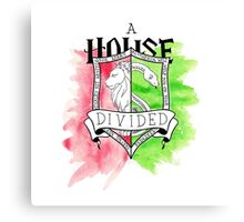 Wizard House Divided {Sly & Brave} Canvas Print