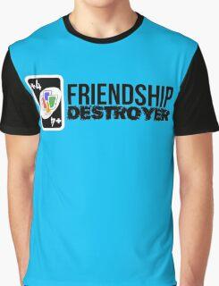 +4 Friendship Destroyer (Uno Card Game) Graphic T-Shirt
