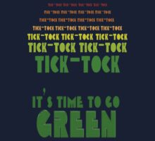 Tick Tock: It's Time to Go Green One Piece - Long Sleeve
