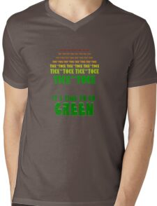 Tick Tock: It's Time to Go Green Mens V-Neck T-Shirt