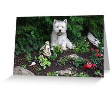 The best statue on my rockery Greeting Card