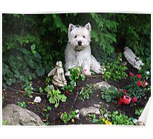 The best statue on my rockery Poster