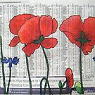 Newspaper Poppies by Alexandra Felgate