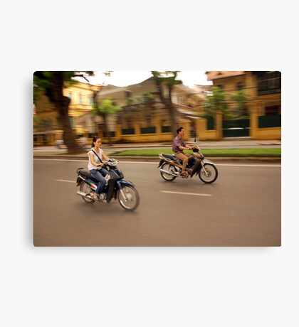 Hanoi Bike Life Canvas Print