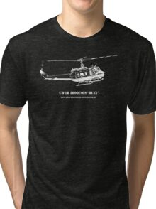 UH-1H Huey Helicopter Tri-blend T-Shirt