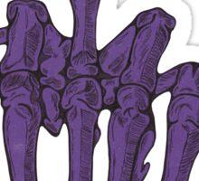 Skeletal Middle Finger - Purple Sticker