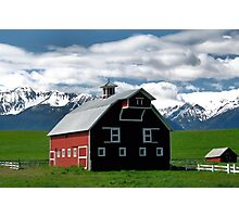 The Red Barn of Wallowa County   Photographic Print