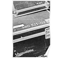 Sound Equipment Luggage Poster