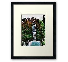 The Unknown Construction Worker at Tower Hill, London Framed Print