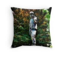 The Unknown Construction Worker at Tower Hill, London Throw Pillow